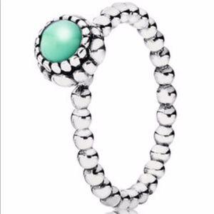 Pandora Birthstone Ring - August